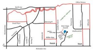 Candler Park route for MidSummer Festival 5K