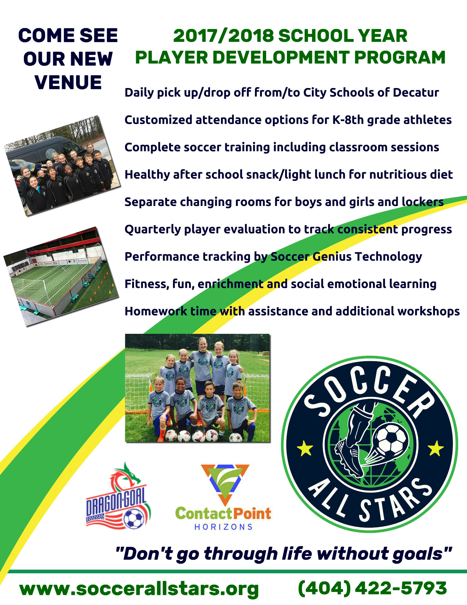 Soccer All Stars - Contact Point 2017 - 2018 Flyer